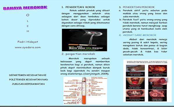 Contoh Brosur Bahaya Merokok