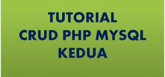 Tutorial CRUD PHP Kedua